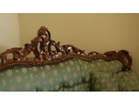 Beautiful French Style Sofa - Carved Wood Frame