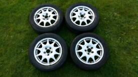 """Saab 16"""" alloy wheels fits saabs 1996-2002."""