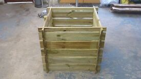 """NEW UNUSED WOODEN COMPOSTER BIN SIZE 24"""" X 24"""" X 25"""" HIGH"""