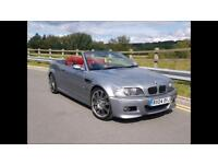 2004 BMW E46 M3 CONVERTIBLE SMG II INDIVIDUAL GREY RED LEATHERS SAT NAV FMBWSH NOT C63 335d RS4