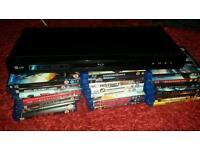 LG Blu ray player and 23 Blu rays