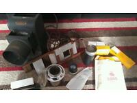 Antique vintage old Johnson of hendon birmingham projector camera and accessories