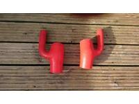 A6 S4 2.7t biturbo bi-turbo Red silicone 'lobster claw' intake diverter hoses