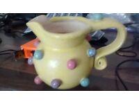 studio pottery very unusual jug