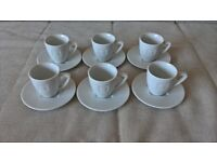 6 Nespresso Espresso cups and saucers for sale in Seaford