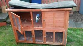Rabbit guinea pig hutch 2 tier
