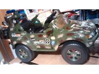 New electric ride on (Army) Jeep 6 volt