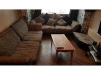 Grey and Black 4 Piece Sofa Set £300 ono