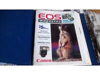 CANON EOS MAGAZINE ISSUE 1 1993 TO ISSUE 14 1996 ALL IN COVER FOLDER