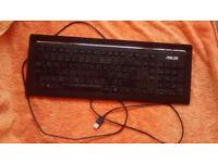 ASUS computer keyboard, working order, black.