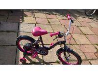 "Girls bike size 16"" wheels"