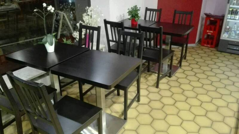 abholung b s 180 bistrotische und st hle f r cafe backerei in bayern f rth esstisch. Black Bedroom Furniture Sets. Home Design Ideas