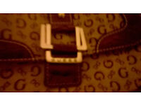 New Guess brown hand bag