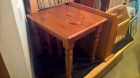 Wooden furniture....nest of 3 tables..slight stress and small marks..