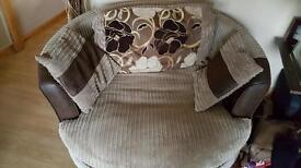 Swivel and three seater sofa