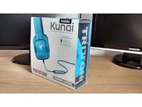Tritton Kunai Mobile Blue Stereo Headset with Mic for Apple inc iPhones, iPod and iPads