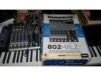 Mackie 802-VLZ3 compact mixer with Tracktion 3 software