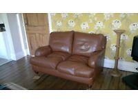 Multiyork 2 seater brown leather sofa