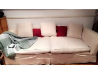 Price slashed:Comfortable XL white couch/sofa!