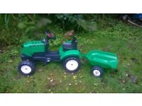 FALK LANDER Z160X CHILDS RIDE ON TRACTOR & TRAILER AGE 2+. COLLECT FROM GOVER, ST AUSTELL.
