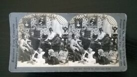 vintage ( circa 1900 s ) stereoscopic photograph '' there's no place like home ''