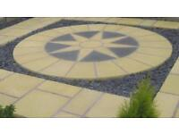 Paving Circle Garden Patio Feature Star Sun 10ft Round