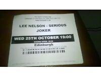 Lee Nelson comedy show ticket, Edinburgh
