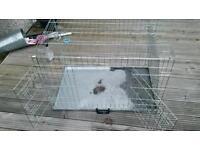 Medium dog cage crate