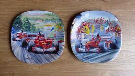Set of five Bradford Exchange Gran Premio Ferrari Wall Plates