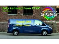 Shop Signs - vehicle signage - banners