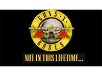 2 Tickets Guns & Roses Slane Castle May 27th