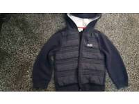 Hugo Boss knitted and lightly padded jacket 3-4 years