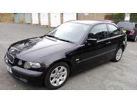 BMW 316ti Compact, Black, 2002, years MOT £995 ono