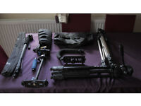 Photography / Video Tripods and other items