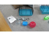 HAMSTER CAGE - SMALL WIRE + ACCESSORIES + EXTRAS