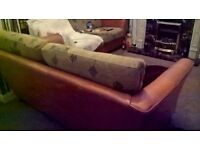 Marks and Spencer leather/material sofa