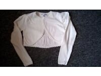 2 x M&S cardigans used with bridesmaid dresses, age 4-5 and 5-6 years. £8 each