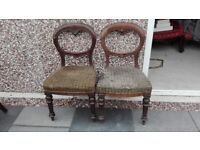 8 Assorted styled old chairs for restoration projects? poss del.