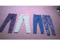 4 prs girls leggings 2x 7-8yrs and 2 x 8 yrs vgc £4 the lot
