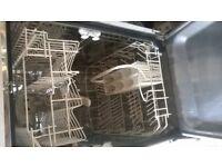 slimline white dishwasher