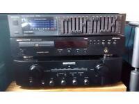 MARANTZ CD PLAYER 6000 OSE KI, MARANTZ PM 7004 AMPLIFIER, TECHNICS EQUALIZER SH-8033 ..