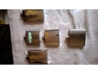 5 Hip Flasks