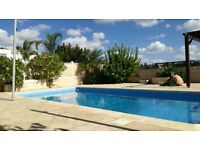 Paphos,Cyprus , holiday villa for long term rent