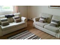 MUST GO TODAY!! 2 x Matching Cream Fabric 2 Seater Sofas