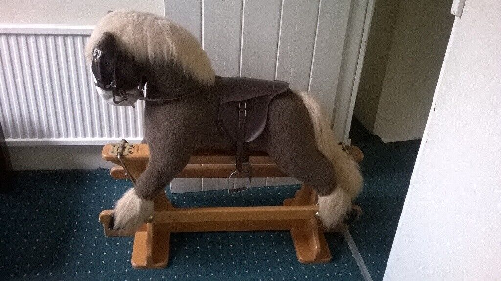TWO TONE BROWN MERRYTHOUGHT ROCKING HORSE
