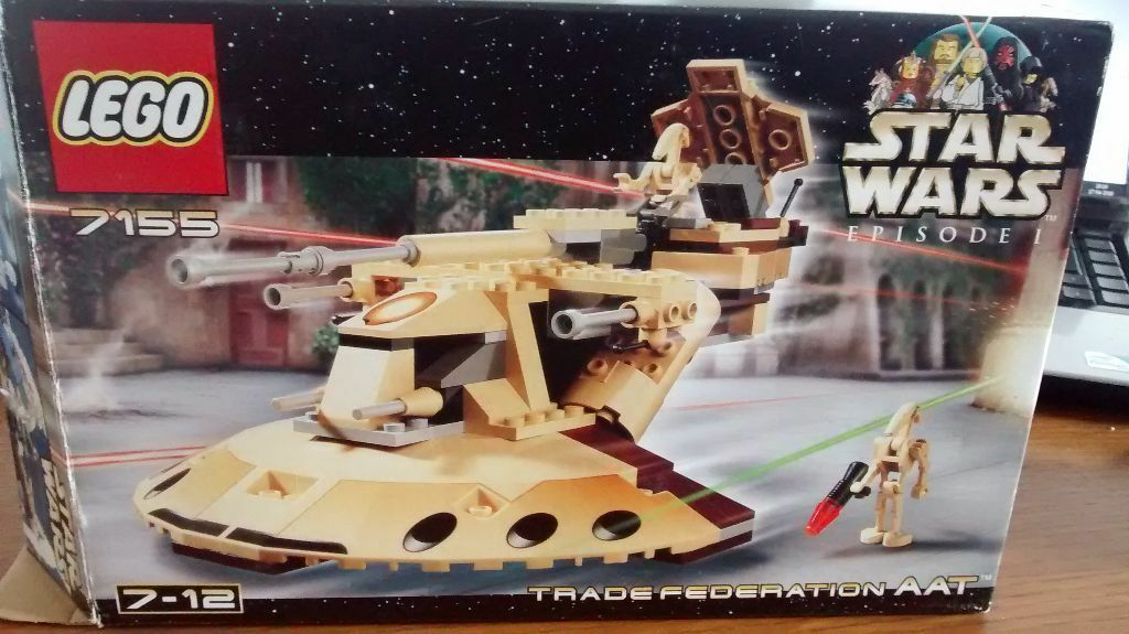 Retired Lego Star Wars Trade Federation Aat 7155 Used But With Box