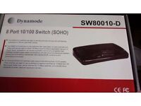 Dynamite SW80010-D Desktop 8 Port Switch- new/unused