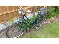 Raleigh ladies superbe cycle lights need new bulbs, tyres good, brakes ok
