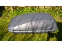 Used Halfords roof box large. PRICE DROP as need space!