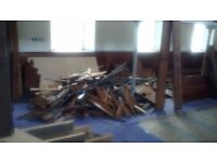 Free Quality Pine wood pieces, assortment included cupboard doors.